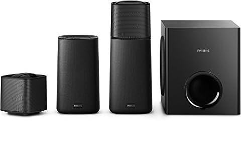 Philips F5 Home Cinéma 4.1 avec Bluetooth, NFC, HDMI ARC, Enceintes et Caisson de Basses sans Fil, 210W,