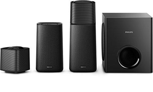 Philips F5 Home Cinéma 4.1 avec Bluetooth, NFC, HDMI ARC, Enceintes et Caisson de Basses sans Fil,...