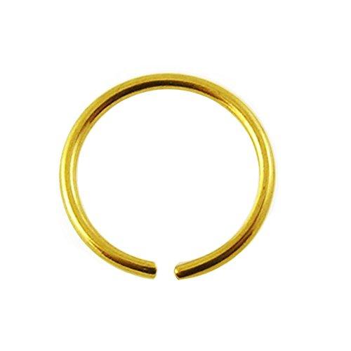 Nasen-Piercing Ring Schmuck Stecker 585er Gelbgold, Spannring