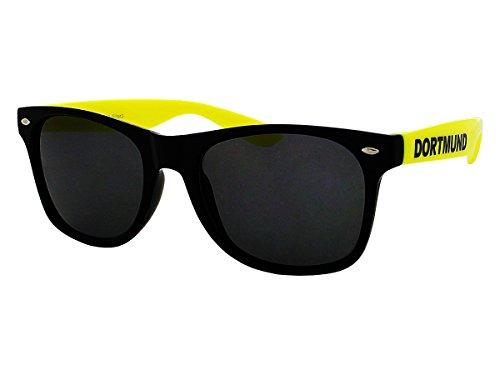 Alsino Dortmund Sonnenbrille Brille Nerdbrille Städtebrille Funbrille Fanbrille, wählen:V-1051 Bügel gelb