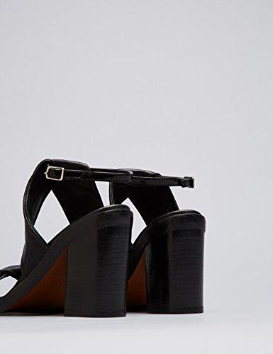 FIND Sandales Bride Chevilles Femme Noir (Black)