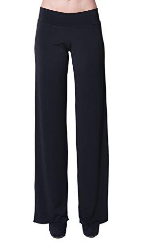 FRANCESCA FERRANTE - Pantalone Largo, Colore Nero, Taglia XL