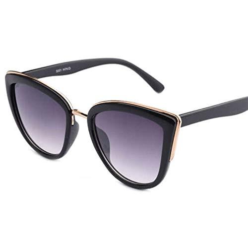 SQYJING Sonnenbrille Großhandel Retro schwarz Sonnenbrille Frauen Sonnenbrille Frau Sonnenbrille für weibliche gradienten Shades für Frauen, black-s29n