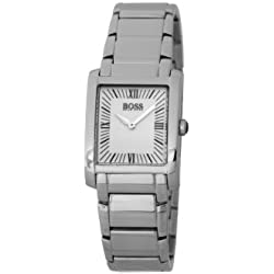 Hugo Boss Ladies Quartz Watch with Silver Dial Analogue Display and Silver Stainless Steel Strap 1502195