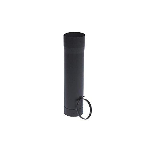 Tuyau coulissant de 50cm émail noir mat avec Bague de réglage Diamètre 125mm - 348544