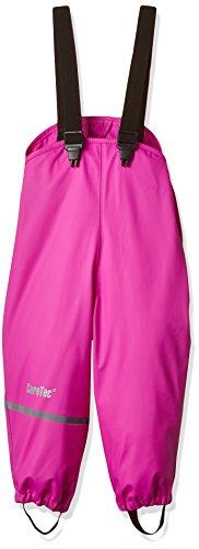 CareTec Mädchen wasserdichte Regenlatzhose, Gr. 74, Rosa (Real pink 546)
