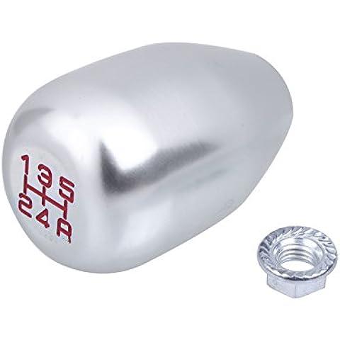 rybyte (TM) M16* 1,5Original Reemplazo coche Shift pomo de palanca de cambio de coche de aleación de aluminio para Honda Civic plata Vehículo