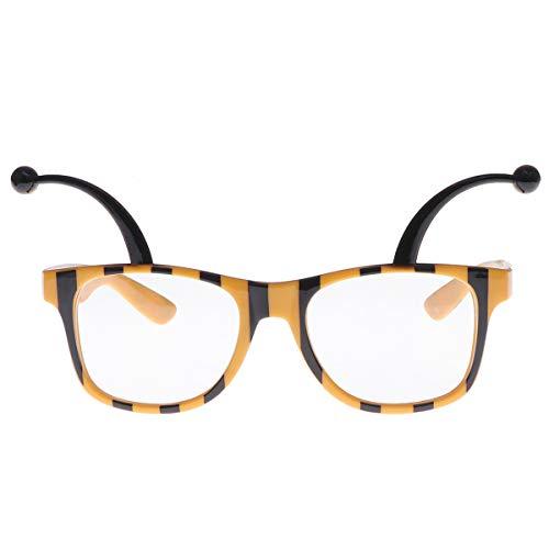 Amosfun Bienen Brille Karneval Sonnenbrille Geburtstag Partybrille Spaßbrille Foto Requisiten Geschenk für Kinder Erwachsene Party Kostüm 2 Stücke