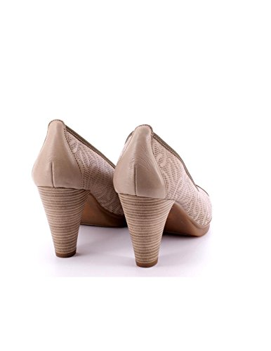 Chaussure Dorking Beige cuir Talon 7cm Beige