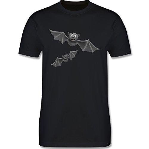 ledermäuse - 3XL - Schwarz - L190 - Herren T-Shirt Rundhals (Ideen Für Halloween Kostüm Für Die Arbeit)