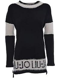 Liu Jo Sport maglia chiusa donna con dettagli effetto pelliccia ... abd3eef0f7f