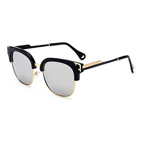 WKAIJC Mode Pop Klassik Persönlichkeit Retro Männer Und Frauen Komfort Kreativität Freizeit Sonnenbrillen,C