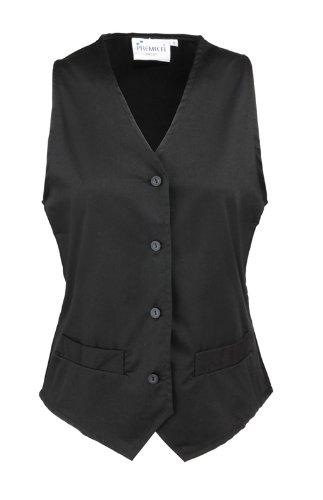 Ladies Gastro Arbeitsweste, optional individuell mit Ihrem Wunschtext veredelt, kult, Farbe schwarz, Größe L