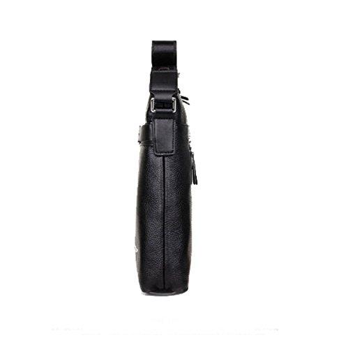 BULAGE Taschen Männer Schulter- Messenger Geschäft Leder Vertikalschnitt Rucksäcke Dokumente Freizeit Leder Mode Schönheit Black