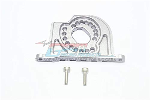 G.P.M. Losi 1:10 Baja Rey / Rock Rey Tuning Teile Aluminium Motor Mount Plate with Heat Sink Fins - 1Pc Set Grey Silver -