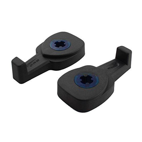 sourcingmap® Schwarzer Kunststoff drehbar Rücksitz Tütenhalter Auto Kleiderhaken 2 Stücke