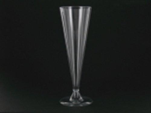100 flûtes à champagne plastique jetables transparentes