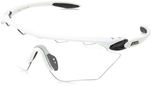 Alpina Unisex Sportbrille Twist Four Shield VL+, white/black, A8454110
