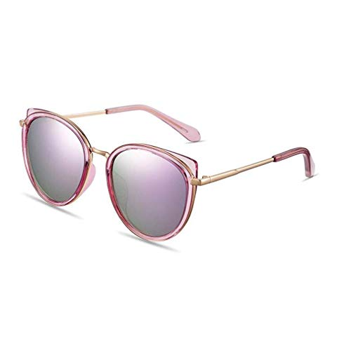 KISlink Damenmode Polarisierte süße Katzenauge Sonnenbrille UV400 HD Linsen (Farbe: Pinkish Purple)