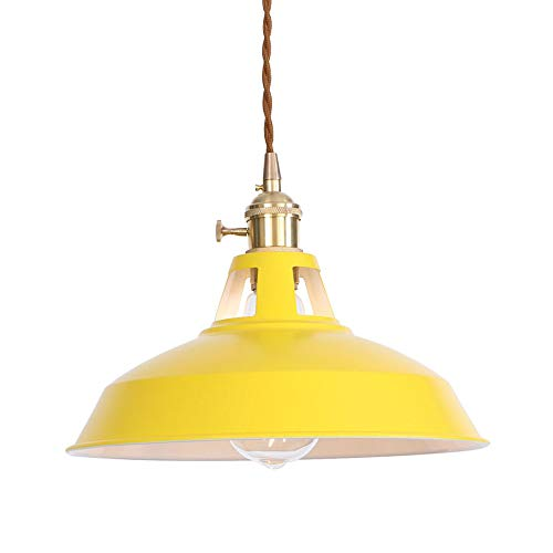 Lampe Suspendu Fer Forgé Suspension Luminaire Interieur Lustre Plafonnier Salon De Décoration Jaune