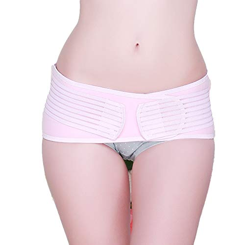 kakakooo Becken-Recovery-Gurt-Frauen-Postpartum Stützband-Kompression Postpartale Erholung Becken-Korrektor-Gurt-Rosa 1PC -