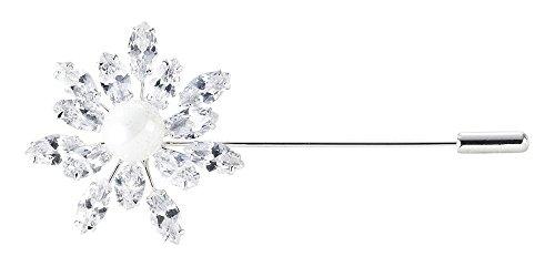 BUSSE Plastronnadel SPARKLE Länge 75 mm, silber (crystal)