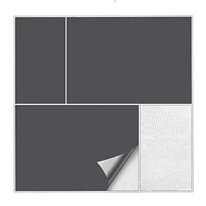 Kiwistar Fliesenaufkleber Dunkelgrau 73 Seidenmatt - 15 x 20 cm - 50 Stück - Für Bad, Küche etc