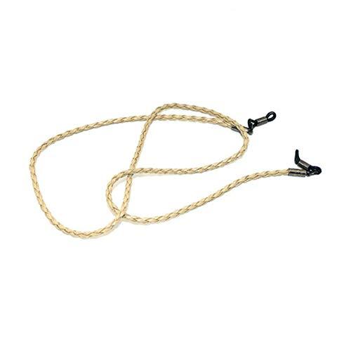 LoveOlvidoD Mode Leder Schnur Seil Verstellbare Ende Brille Umhängeband Exquisite Brillenschnur Universal Brillen Zubehör