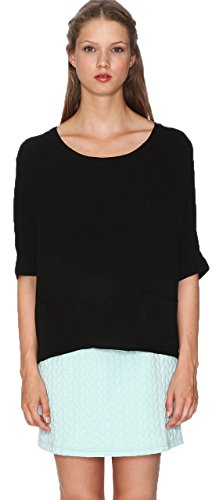 Pepa Loves 107727 - Chemisier - Tunique - Manches 3/4 - Femme Noir (Black)