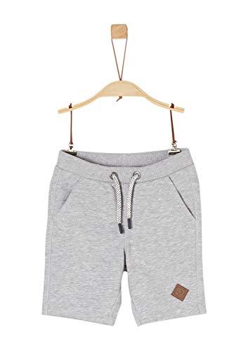 s.Oliver Junior Jungen 74.899.75.0523 Shorts, Grau (Grey Melange 9400), (Herstellergröße: 98/REG)