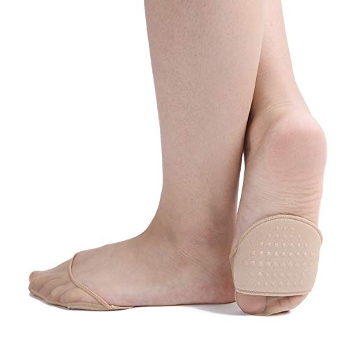Zeltauto Damen 6 Paar Fußpolster Fuß-pads Socken für Entspannung der Füße (6 Beige, Tüll)