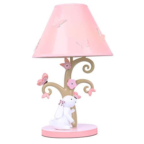 GBY Lámpara de Mesa Lámpara de cabecera para niños - Lámpara de Mesa Decorativa cálida de Dormitorio de niña Regulable (Interruptor de atenuación) Lámpara de sobremesa