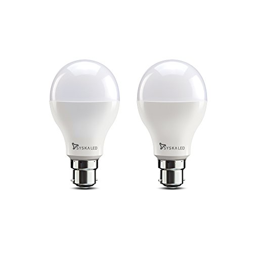 Syska SSK-SRL-18W-2 B22 18-Watt LED Bulb (Pack of 2, Cool Day Light)