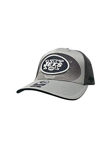 47 York Jets Contender Stretch Fit Baseballmütze Low Profile Fußball Cap, GreyJets Grey Scale, Large/XLarge -