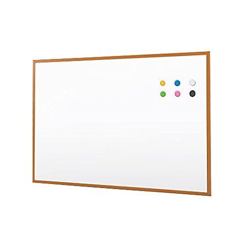 Cadre en bois Mémo Magnétique Effaçable à sec affichage Stationery Office Présentation effaçable à sec Classe affichage 90* * * * * * * * 60cm 60*45 blanc
