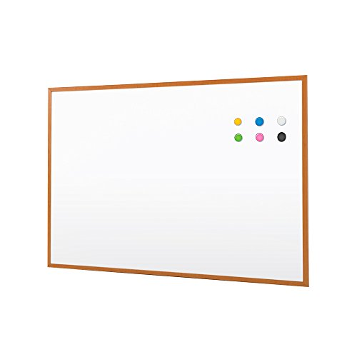 bwischbar Whiteboard Holz gerahmt Memo Ankündigung Stationery Büro Präsentation Dry Erase Klassenzimmer Bulletin Board, weiß 60 * 45 CM (Klassenzimmer Bulletin Boards)