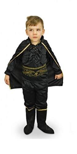Fair shop vestito costume di carnevale bimbo zorro da 3 a 12 anni recita teatro scuola bambino (6-8 anni)