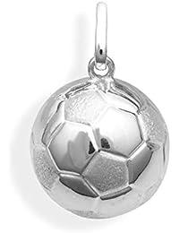Fútbol colgante de 13 mm de diámetro auténtica plata 925 ... d43d14d2f28c8