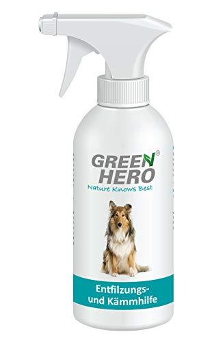 Green Hero Entfilzungs und Kämmhilfe für Hunde Entfilzungsspray Fellpflege 500ml -