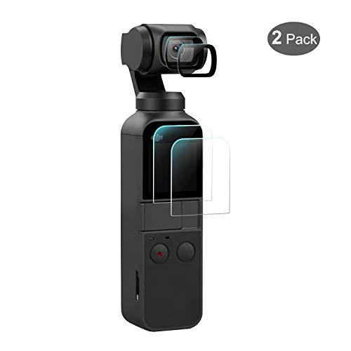 iTrunk Displayschutzfolie für DJI Osmo Pocket, Gehärtetes Glas 4 PCS Displayschutz Zubehör für DJI Osmo Pocket Gimbal Stabilisator Kamera