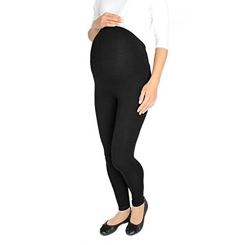 Alkato Damen Umstandsleggings Lang Schwangerschaft Leggins , Farbe: Schwarz, Größe: 36