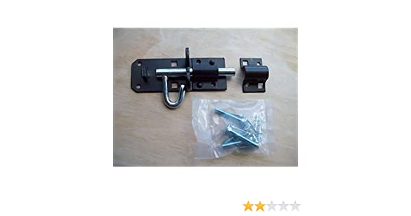 "DOOR// GATE //SHED GARDEN AND MORE 6/"" BLACK 1 X PADBOLT 150 MM"
