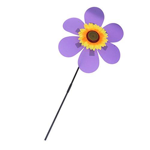 non-brand Sharplace DIY Windmühle Garten Windrad Balkon Windräder für Haus Garten Hof Dekoration, 36x54x72cm - Lila | Garten > Dekoration > Windmühlen | non-brand