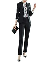 73eec35885c50f Completo Donne Slim Fit Elegante Ufficio Business Giacca Tuta Blazer Gonna  E Top