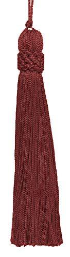 DecoPro Set von 10Rot Krone Kopf Chainette Quaste, 14cm lang mit 3,8cm Loop, Basic Rand Collection Stil # CT055Farbe: Dark Rost-K35