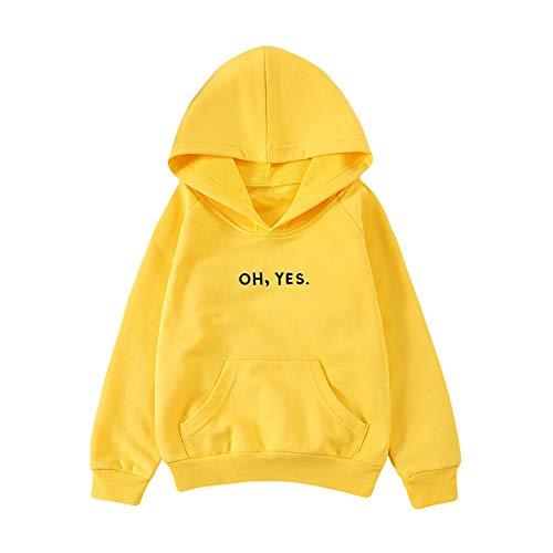 strimusimak Kinder Kinder Kapuzenoberteil Langarm Casual Hoodie Pullover Yellow - Kohle Kostüm