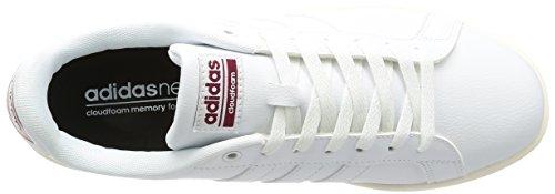 adidas Cloudfoam Advantage, Scarpe da Ginnastica Uomo Bianco (Ftwwht/Ftwwht/Cburgu)
