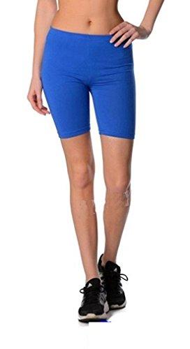Dykmod Damen Kurze Leggings Shorts Sport Radlerhose 36 38 40 42 44 46 Blau