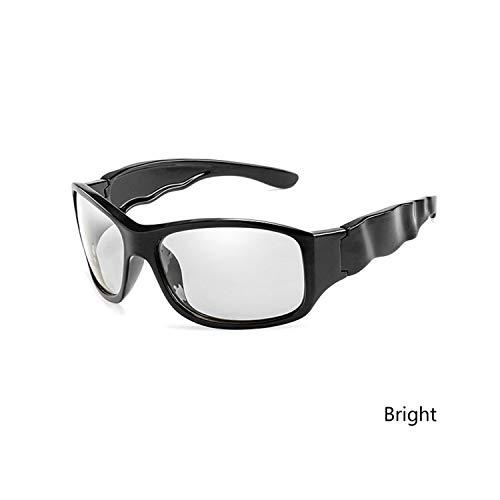 Sport-Sonnenbrillen, Vintage Sonnenbrillen, NEW Photochromic Sunglasses Männer Polarized Wave Legs Driving Goggles WoMänner Brand Designer Gafas De Sol UV400 Bright Black Grey