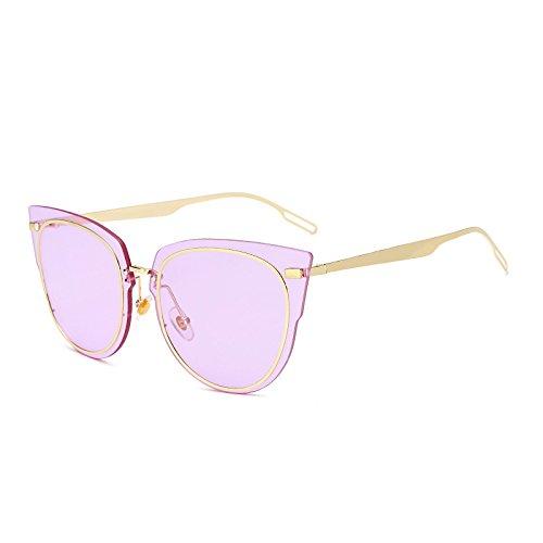 SUNGLASSES Neue Frauen Sonnenbrille Mode Ozean Tablet Fahren Sonnenbrille Metall Persönlichkeit Sonnenbrille (Farbe : Purple)